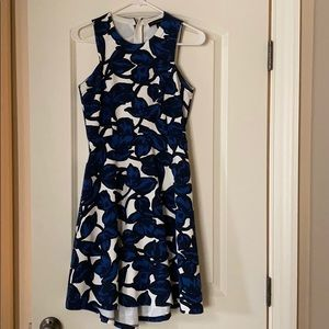Beautiful fit and flare pattern dress.